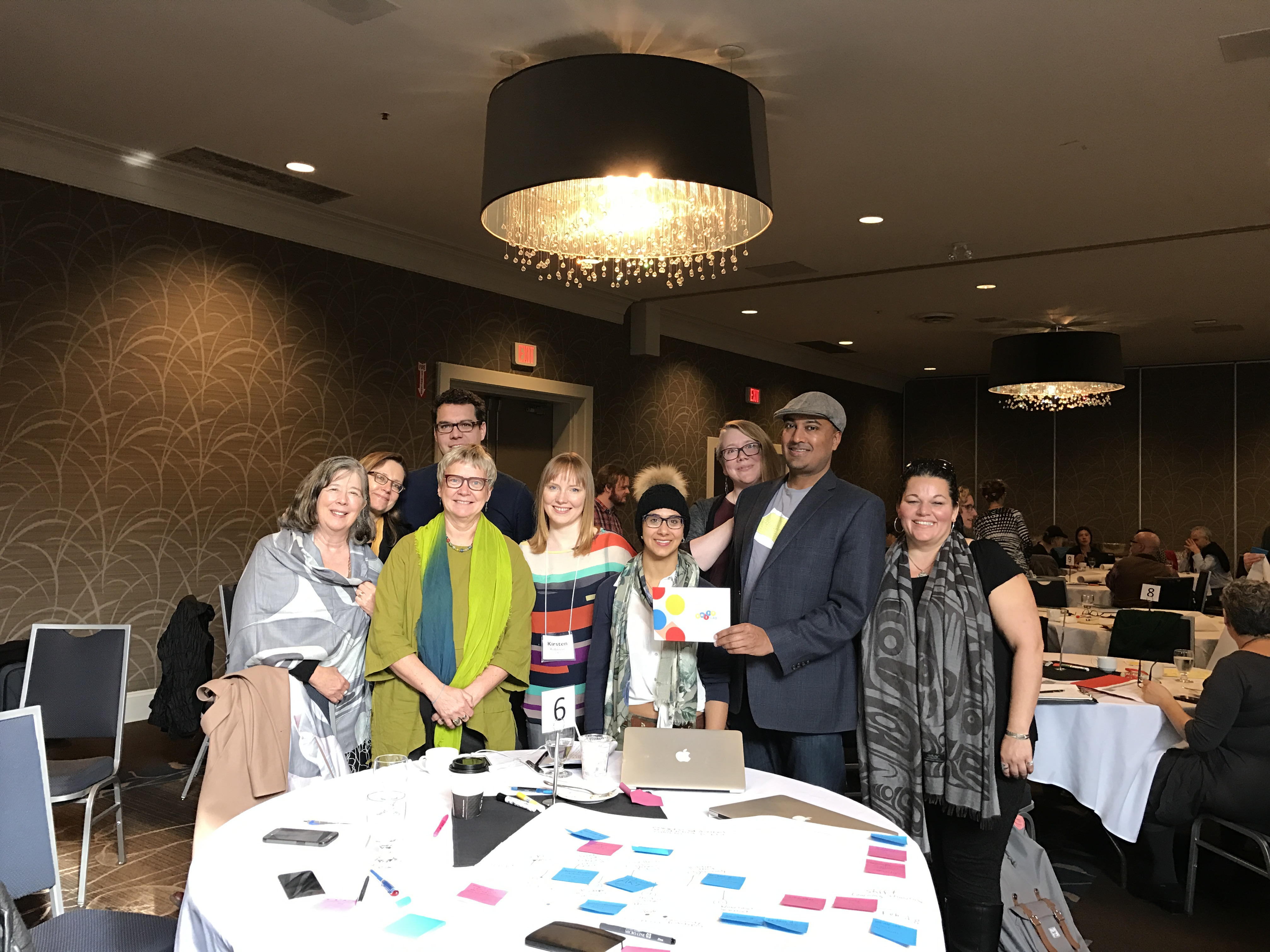 The Shift Lab Stewardship team with Frances Westley, Cheryl Rose, and LabWISE mentors.